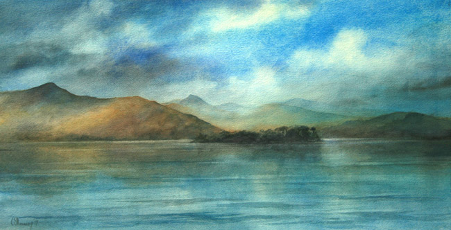 Catbells and Causey Pike from Derewntwater copy